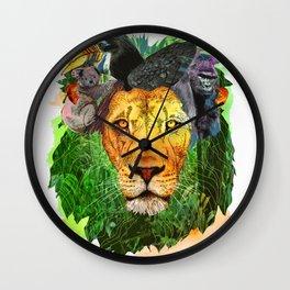 lion safari Wall Clock