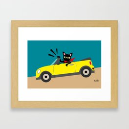 Whim in the car Framed Art Print