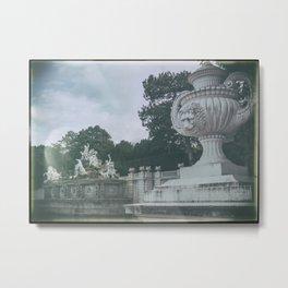 Neptune Fountain in the Schönbrunn Palace Park Vienna Austria Metal Print
