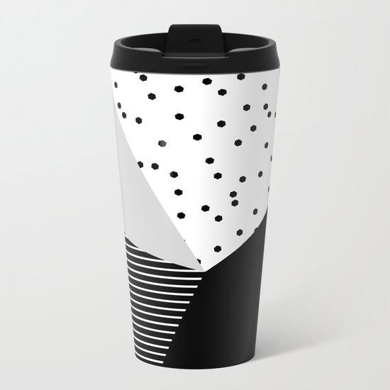 Geometry Blocks 10 Metal Travel Mug