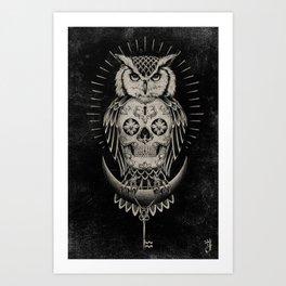 BLK OWL Art Print