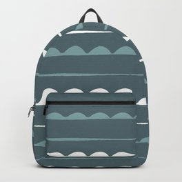 Stripes decor. green. white. minimal. line. minimalist.line-art. stripes. Backpack