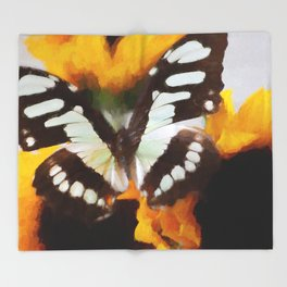 Summer Butterfly Throw Blanket