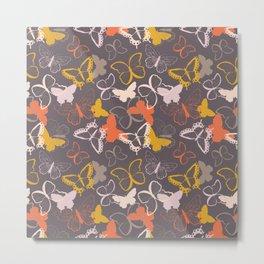 Butterfly pattern 007 Metal Print
