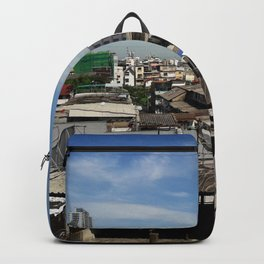 Communities in the capital of Thailand. Backpack