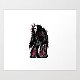 Yeti Beast Art Print