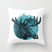 alaska Throw Pillows featuring Alaska by Krikoui
