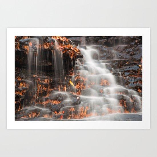 Shades of Death Waterfall Art Print