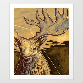 Stag Dimension of Dust Art Print