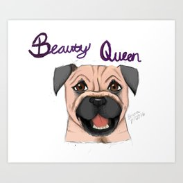 Beauty Queen Art Print