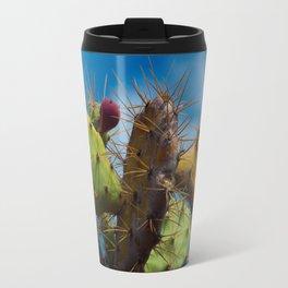 Cactus bites the sky Travel Mug