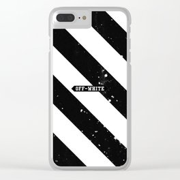 Off White Clear iPhone Case