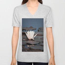 flower of the lake Unisex V-Neck