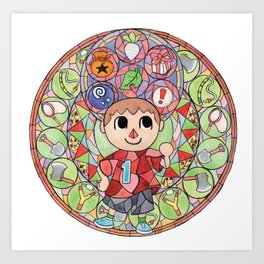 ACNL Villager Stained Glass  Art Print
