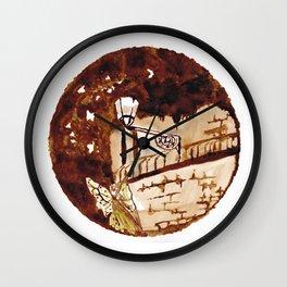 Of moths and fairies Wall Clock