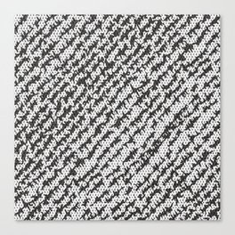 Modern White Black Popular Trendy Abstract Pattern Canvas Print
