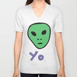 Yo. Alien  Unisex V-Neck