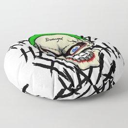 Laughing Skull Floor Pillow