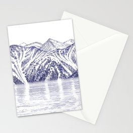 TURNAGAIN ARM AND THE CHUGACH RANGE ON THE COOK INLET ALASKA Stationery Cards