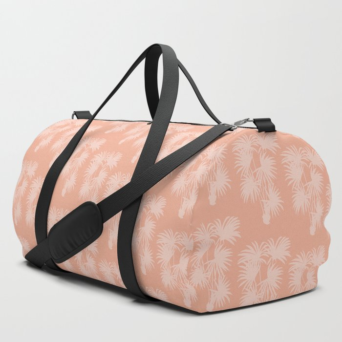 Palm Silhouette | Peachy Pink Duffle Bag