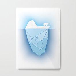bear on iceberg Metal Print