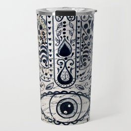 Hamsa Evil Eye for Protection Travel Mug