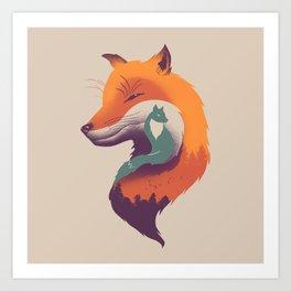 Foxy Breeze Art Print
