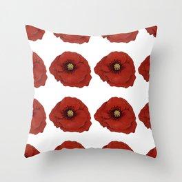 I Adore Poppies Throw Pillow