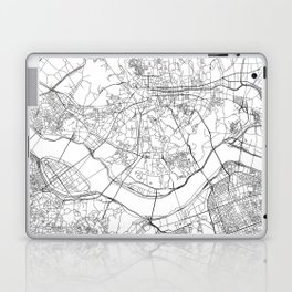 Seoul White Map Laptop & iPad Skin