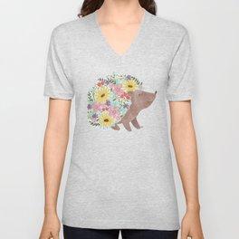 Flowering Hedgehog Unisex V-Neck