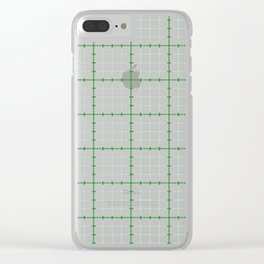 Dotted Grid Weave Green Clear iPhone Case