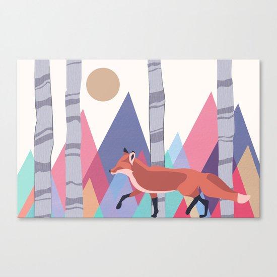 Fox stroll Canvas Print