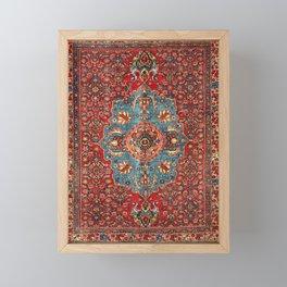 Bidjar Antique Kurdish Northwest Persian Rug Print Framed Mini Art Print