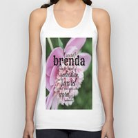 scripture Tank Tops featuring Brenda scripture by KimberosePhotography