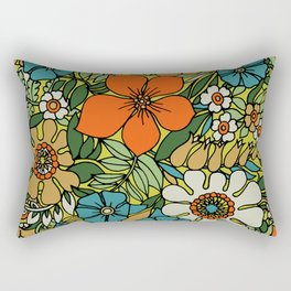 70s Plate Rectangular Pillow