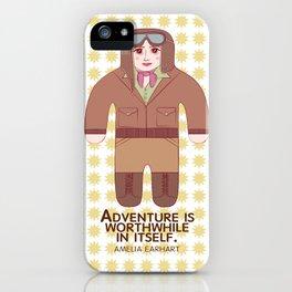 Amelia Earhart Illustration iPhone Case