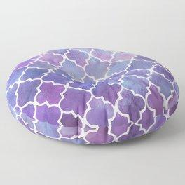 Purples & Pinks Watercolor Moroccan Pattern Floor Pillow