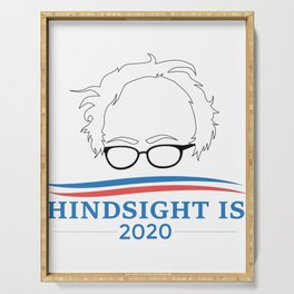 Bernie Sanders Hindsight Is 2020 Head Serving Tray