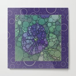 Percolated Purple Potato Flower Reboot  Metal Print