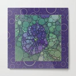 Percolated Purple Potato Flower Reboot  Metal Print