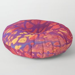 Magenta Gold Floor Pillow