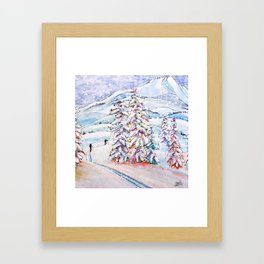 Breaking Trail Framed Art Print