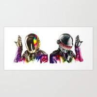 daft punk Art Prints featuring Daft punk  by beart24