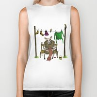 sheep Biker Tanks featuring Sheep by Anna Shell