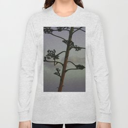 Agave flower stalk and clouds Long Sleeve T-shirt