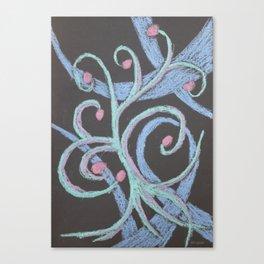 No. 32, Abstract Metallic Pastels Canvas Print