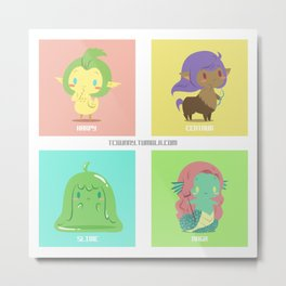 Monster Girls A Metal Print