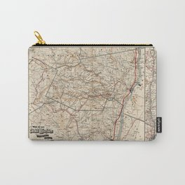 Catskill Mountains Map Carry-All Pouch
