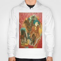 racing Hoodies featuring Racing Collage by Connie Campbell