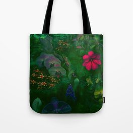 Gathering of Flowers - [Green Version] Tote Bag